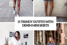 15 trendy outfits with denim mini skirts cover