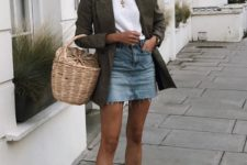 a summer look with a basket bag