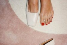 05 such white leather slingbacks with square toes are a trendy option with a minimal feel, perfect for work