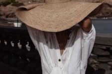 11 really large straw hats are a trend of last and this year and if you are a daring person, rock one