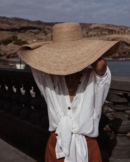 really large straw hats are a trend of last and this year and if you are a daring person, rock one