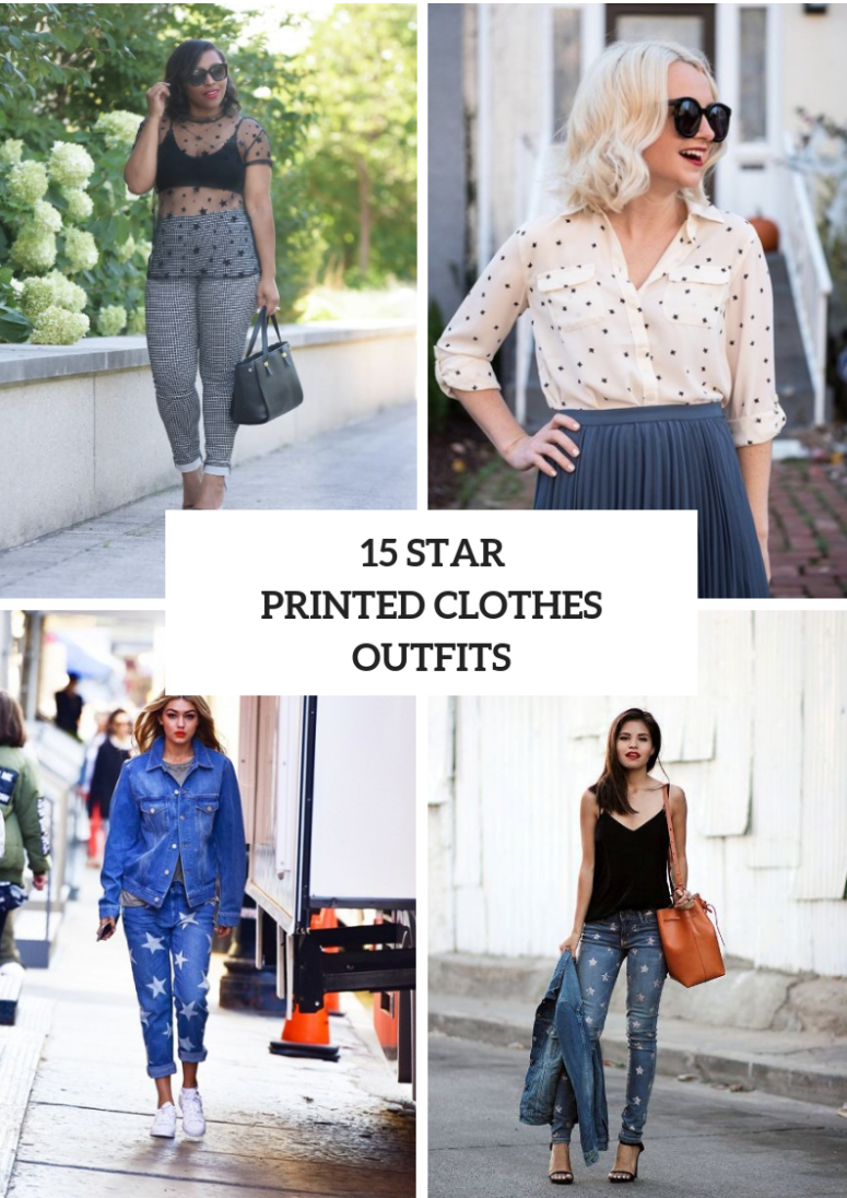 Cool Outfits With Star Printed Clothes
