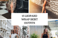 15 Eye-Catching Outfit Ideas With Leopard Wrapped Skirts