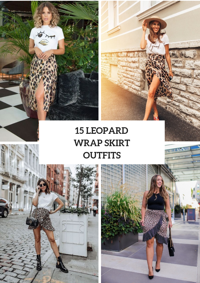 Eye Catching Outfit Ideas With Leopard Wrapped Skirts