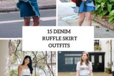 15 Look Ideas With Denim Ruffle Skirts