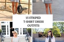 15 Looks With Striped T-Shirt Dresses