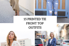 15 Outfits With Printed Tie Front Tops