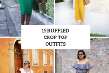 15 Outfits With Ruffled Crop Tops