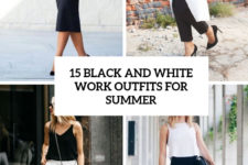 15 black and white work outfits for summer cover