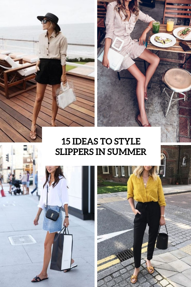 ideas to style slippers in summer cover
