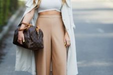 a cool spring look with a trench coat