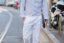 a trendy men's look with espadrilles