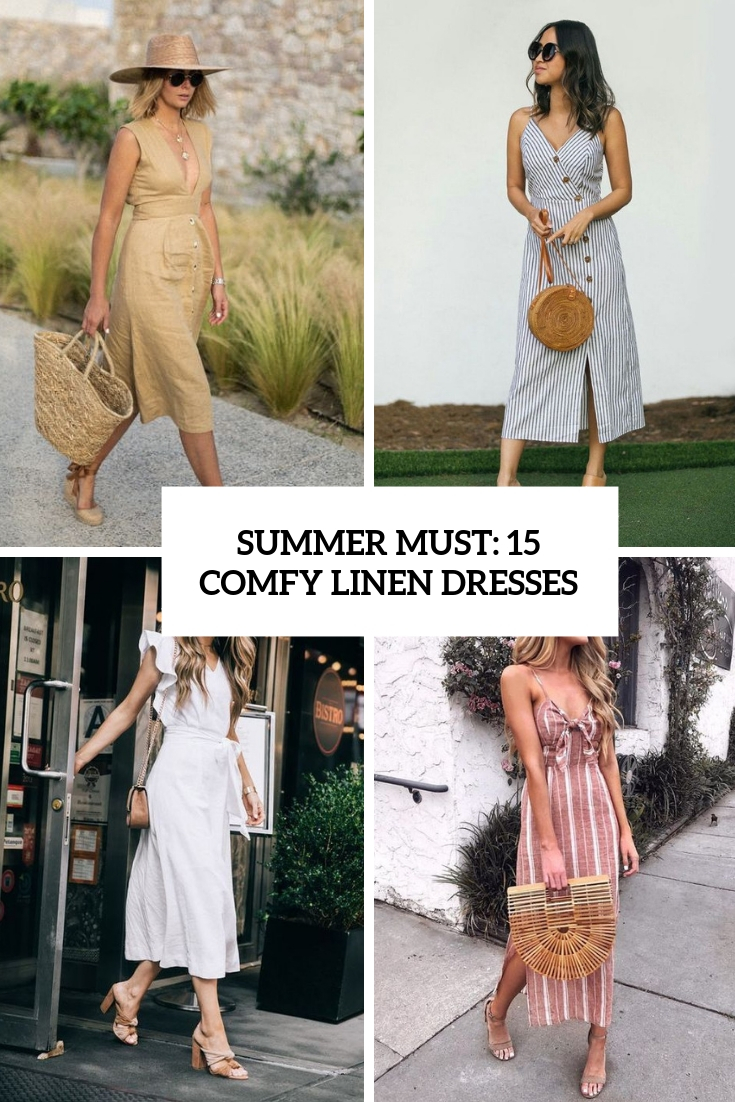 summer must 15 comfy linen dresses cover