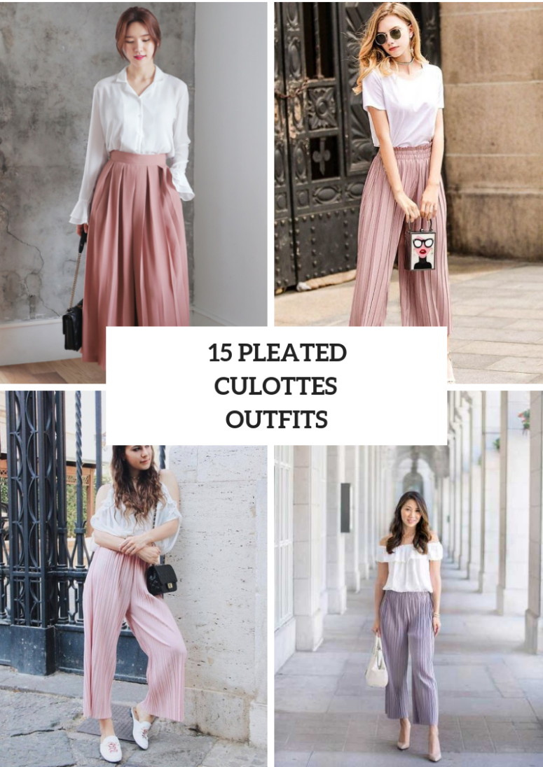 15 Looks With Pleated Culottes To Repeat
