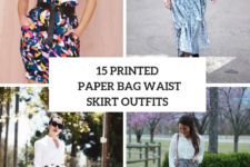 15 Outfits With Printed Paper Bag Waist Skirts