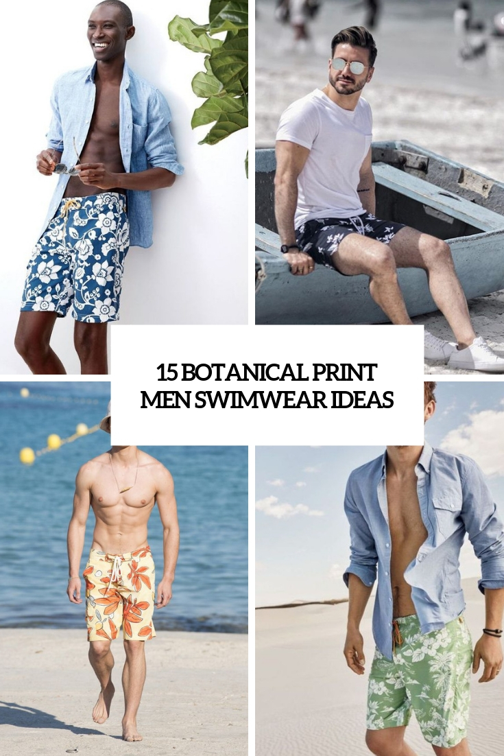 botanical print men swimwear ideas cover