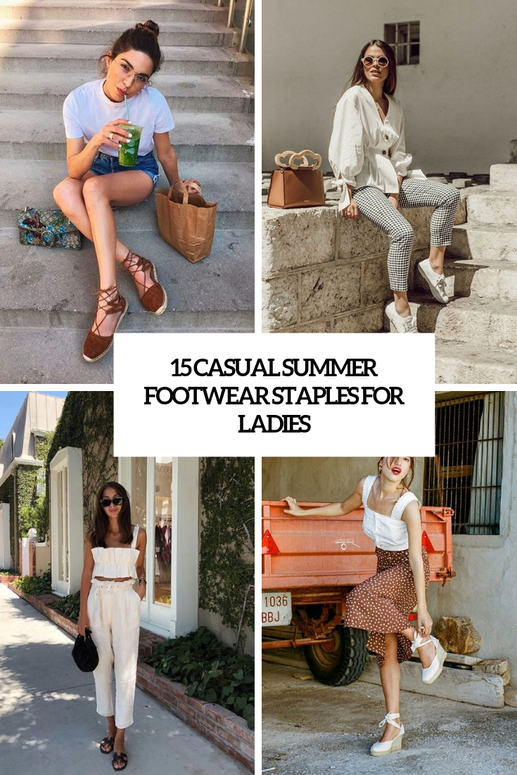 15 Casual Summer Footwear Staples For Ladies