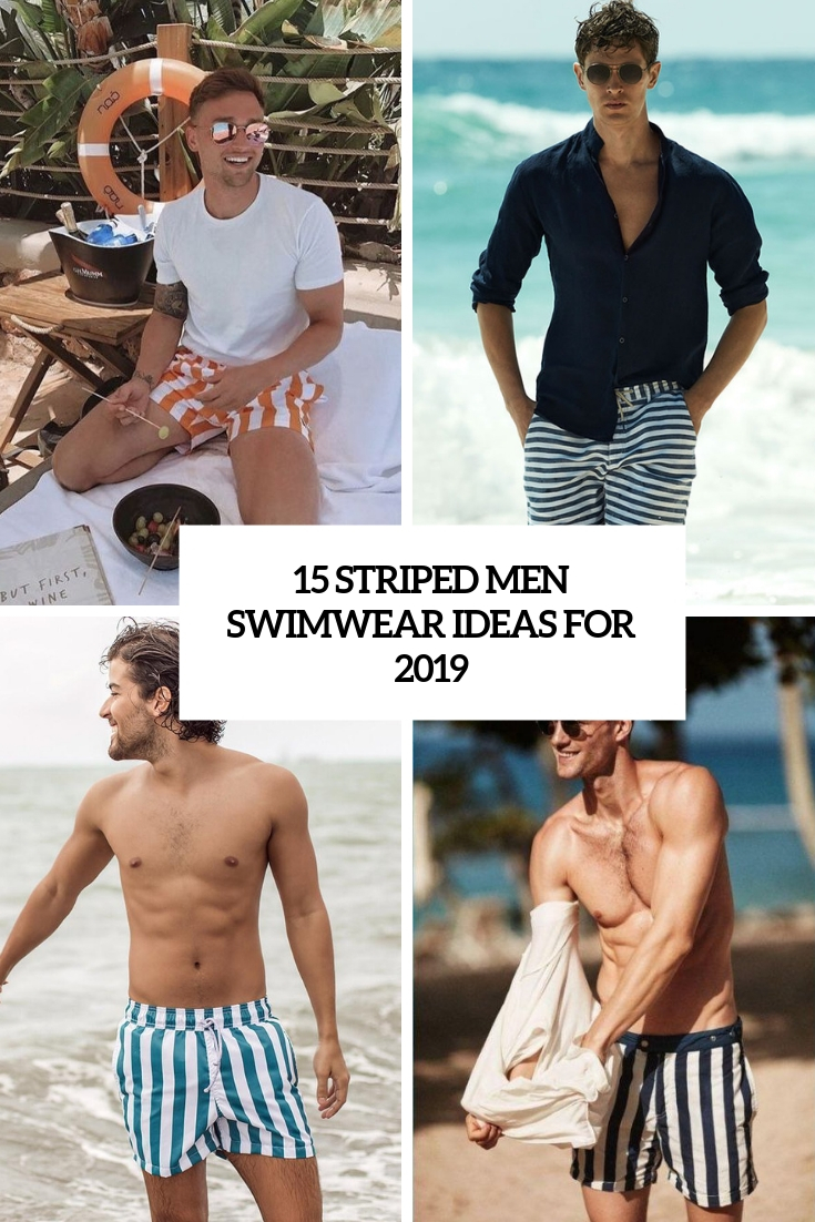 15 Striped Men Swimwear Ideas For 2019