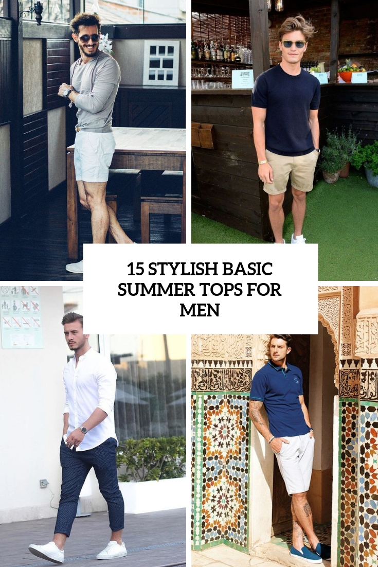 stylish basic summer tops for men cover