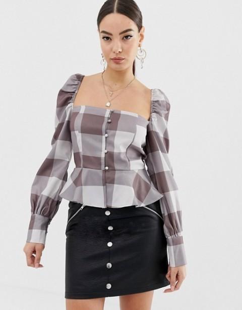 With black mini skirt