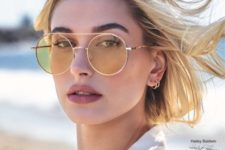 02 round yellow sunglasses with elegant thin gold framing for a nerdy yet trendy look