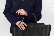 08 a large black tote by Celine is a great invest and it will easily accommodate your laptop, too