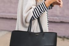 09 a large designer tote of black leather and suede is a stylish and minimalist accessory to go to work and not only