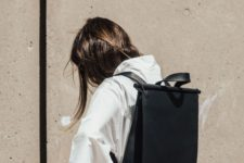 13 a minimalist black convertible laptop backpack and bag is an ultra-modern idea