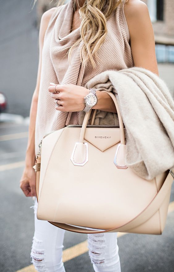 a blush Givenchy carry-all bag is amazing to go to work and for many other occasions