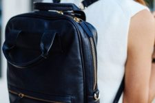 14 a navy and gold laptop backpack will add a slight touch of color and will be a comfortable option