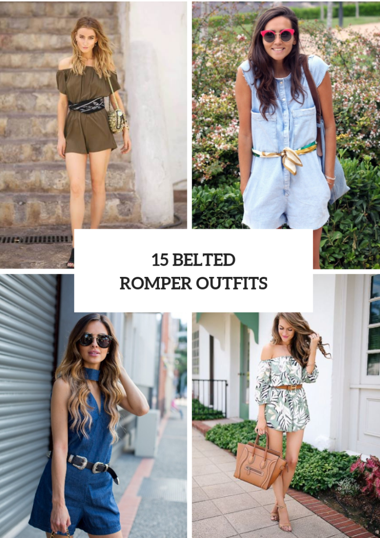 15 Awesome Outfits With Belted Rompers