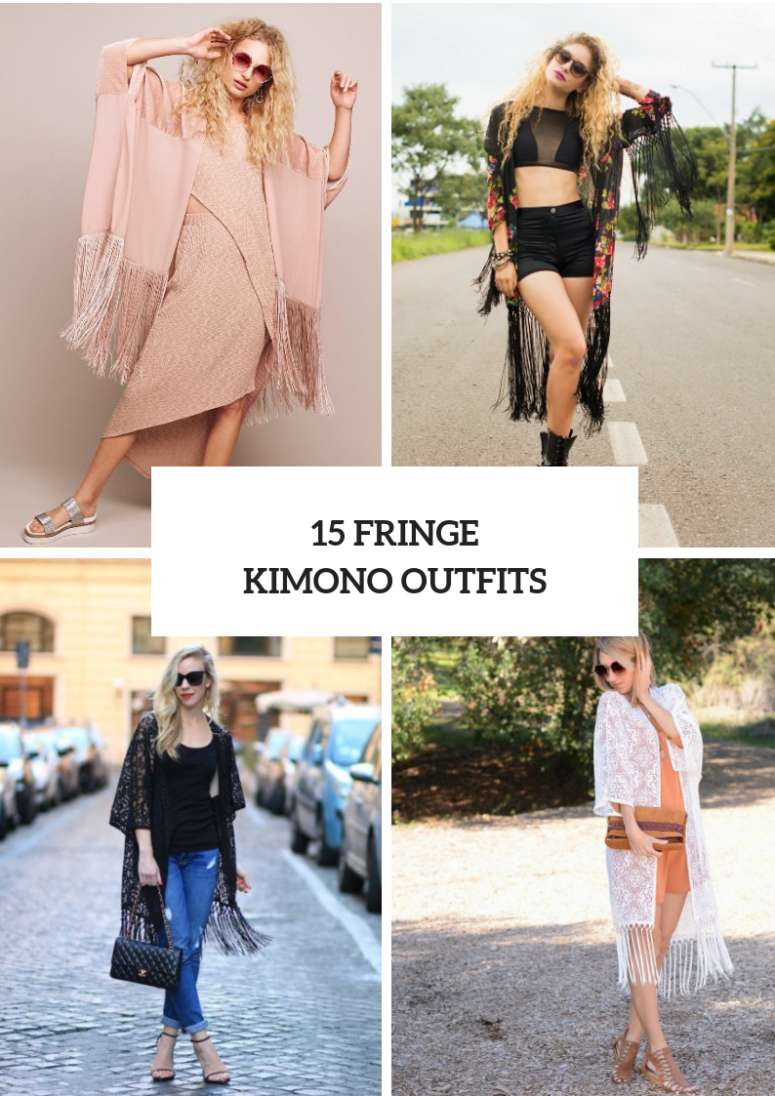 15 Fringe Kimono Outfits For Stylish Ladies
