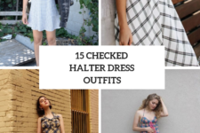 15 Looks With Checked Halter Dresses