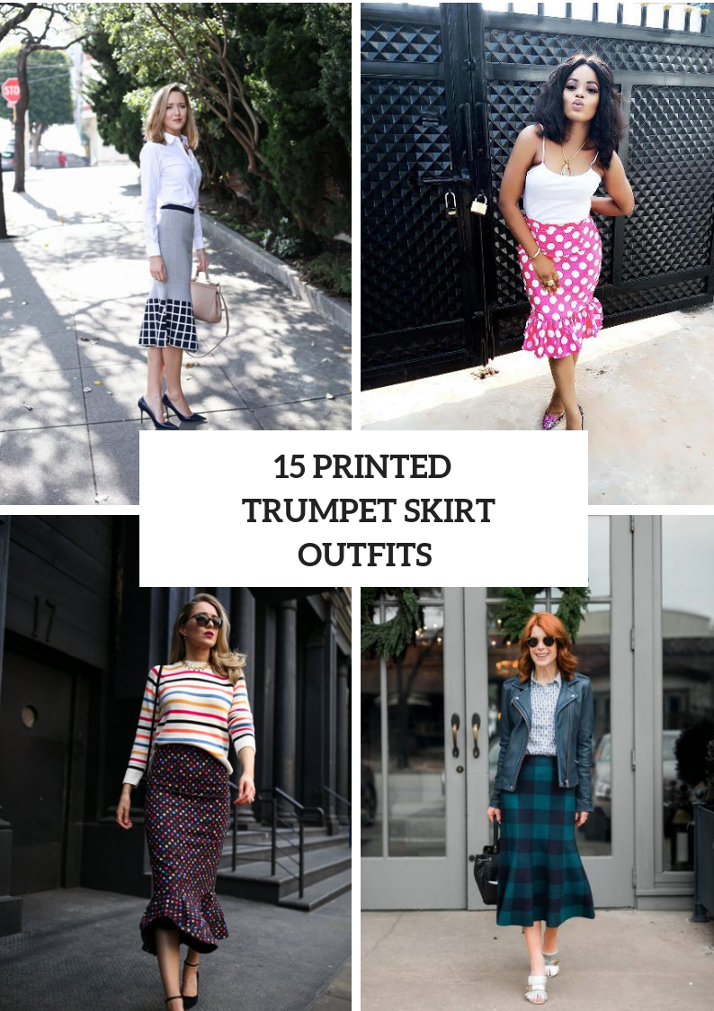 Looks With Printed Trumpet Skirts