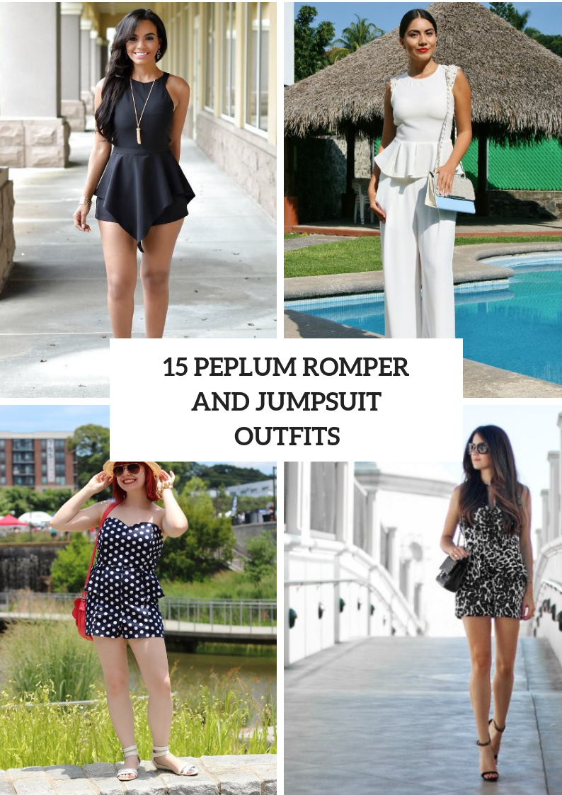 Outfits With Peplum Rompers And Jumpsuits
