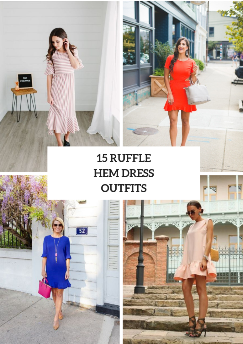 15 Outfits With Ruffle Hem Dresses