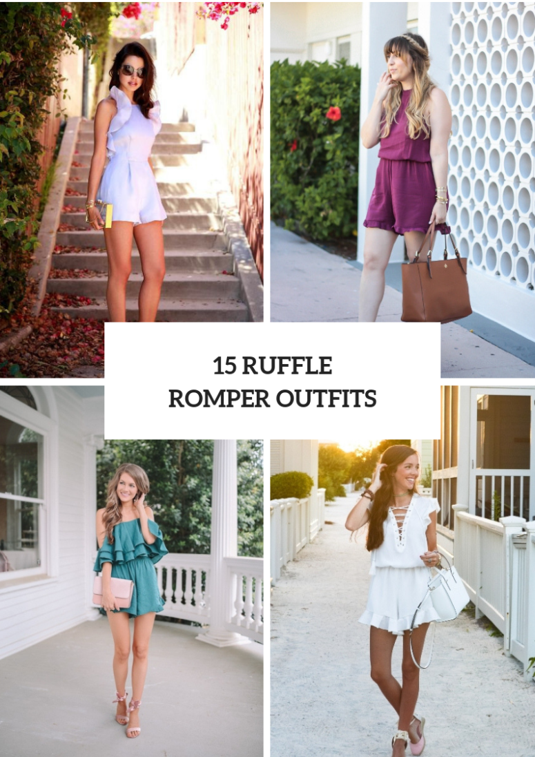 15 Outfits With Ruffled Rompers
