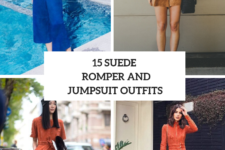 15 Outfits With Suede Rompers And Jumpsuits