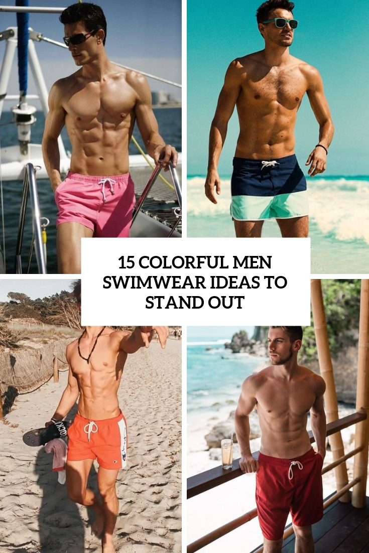 colorful men swimwear ideas to stand out cover