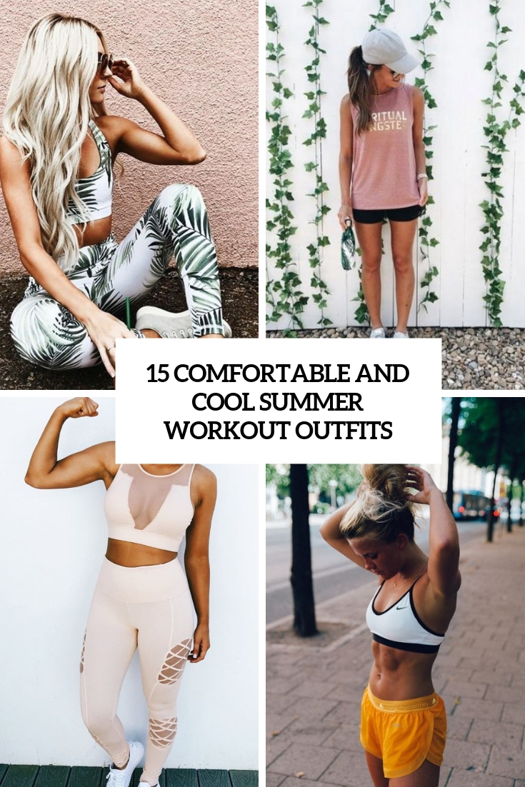 comfortable and cool summer workout outfits cover