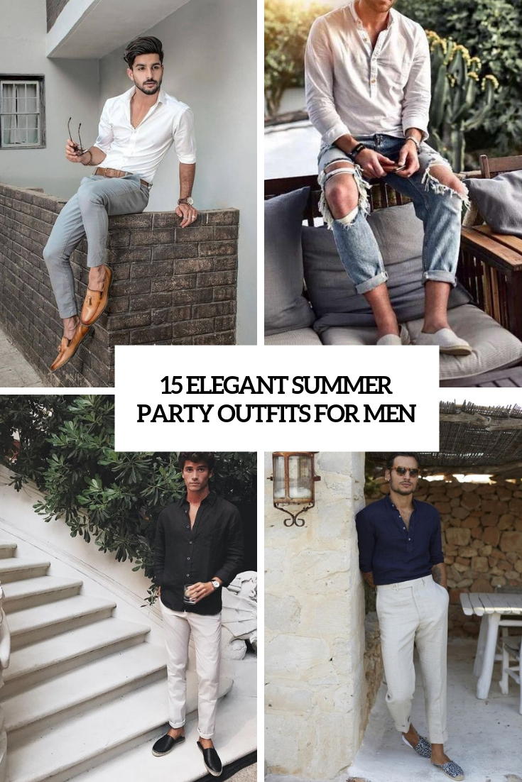 elegant summer party outfits for men cover