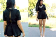With silver necklace and white shoes