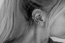 06 a number of cute piercings and an industrial to create a bold statement