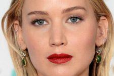 08 Jennifer Lawrence rocking lots of ear piercings looks super hot and rebellious