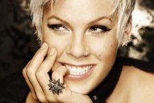 10 Pink wearing a cool nostril piercing, which became her signature accessory