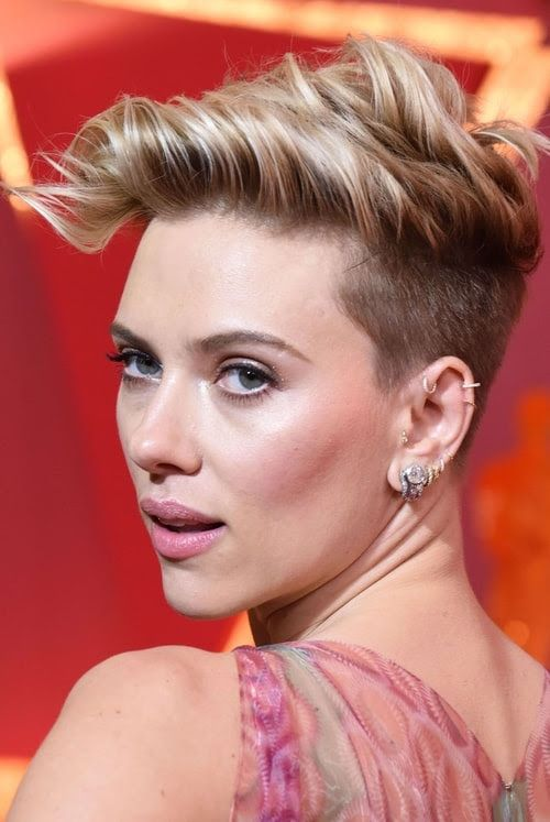Scarlet Johansson rocking various hoops and other piercings in her ear looks wow