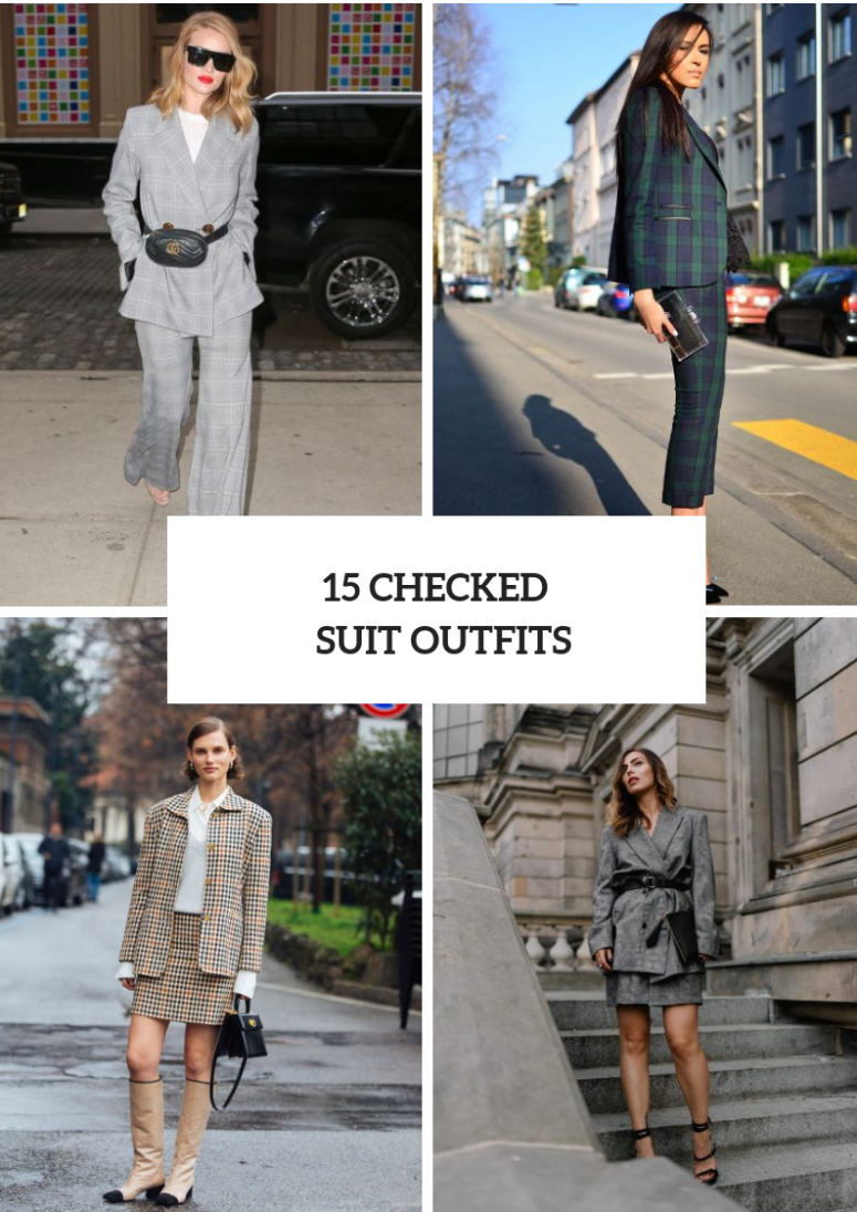 Look Ideas With Checked Suits