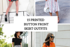 15 Looks With Printed Button Front Skirts