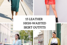 15 Outfit Ideas With High-Waisted Leather Skirts