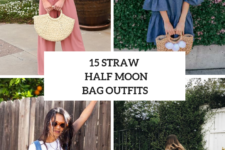 15 Outfits With Straw Half Moon Bags